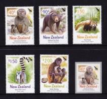 New Zealand 2003 Zoo Animals Set Of 5 + Self-adhesive MNH - New Zealand