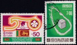 SRI LANKA 1981 SG #736-37 Compl.set Used (50c Is MNH) Christmas - Sri Lanka (Ceylan) (1948-...)