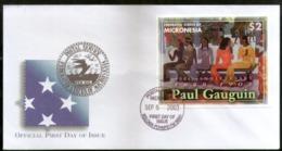Micronesia 2003 Paul Gauguin Paintings Art Sc 558 M/s FDC # 16563 - Art