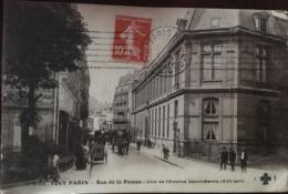 CPA, 75, PARIS 16e SERIE, TOUT PARIS, RUE DE LA POMPE Coin De L'Avenue Henri-Martin, Années 1910 Etc, Trèfle - Arrondissement: 16