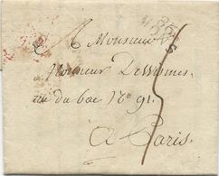 MARQUE POSTALE DEPARTEMENT CONQUIS 86 MONS 1812 - Poststempel (Briefe)