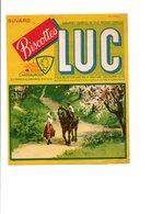 BUVARD BISCOTTES LUC - RENCONTRE PAYSANNE - Carte Assorbenti