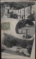 Cpa,  Bains De PUZZICHELLO - Multi-vues (CORSE), Collection A.Guittard, Ajaccio, écrite En 1907 - France
