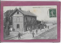 62.- CROISILLES .- La Gare - Croisilles