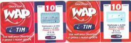 "LOTTO 33 DI N° 2 SCHEDE PREPAGATE & RICARICHE ""TIM GIOCA COM IL WAP"" TUTTE DIVERSE - [2] Sim Cards, Prepaid & Refills"