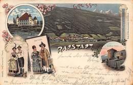 RADSTADT AUSTRIA~SCHLOSSTANTALICK-NEUE TRACHT-SCHATZEL  THURM-ALLE TRACHT-~ANSCLM De MAS 1899 PHOTO POSTCARD 42803 - Radstadt