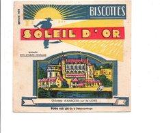 BUVARD BISCOTTES SOLEIL D'OR - CHATEAU D'AMBOISE - Carte Assorbenti