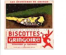 BUVARD BISCOTTES GRINGOIRE - ECHEC AU CHASSEUR - Buvards, Protège-cahiers Illustrés
