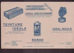 """Buvard """" Idéal-décolorant """" Pour Décolorer Les Tissus ( 21.5 X 13.5 Cm ) Pliures - Produits Ménagers"""