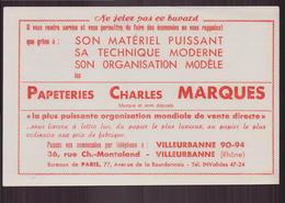 """Buvard """" Papeteries Charles Marques """" à Villeurbanne ( 21 X 13.5 Cm ) Pliures - Papeterie"""