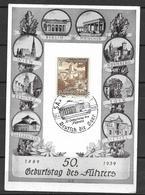 Deutsches Reich 1939 -  Post Card - 50 Geburtstag Des Führers - Germania