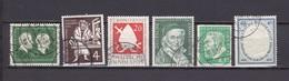 BRD - 1954/55 - Michel Nr. 197/199+204+209/10 - Gest. - Oblitérés