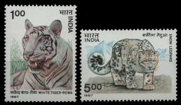 Indien 1987 - Mi-Nr. 1127-1128 ** - MNH - Wildtiere / Wild Animals - Indien