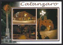 CP Catanzaro, Vedutine . Circulée + Timbre Carnevale Termitano - Catanzaro