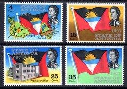 ANTIGUA - 1967 STATEHOOD FLAG & MAPS SET (4V) FINE MNH ** SG 199-202 - 1960-1981 Ministerial Government
