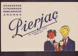 """Buvard """" Pierjac """"  Orangeade, Citronnade ...( 21.5 X 13.5 Cm ) Pliures, Rousseurs - B"""