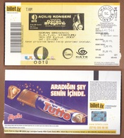 AC - GORAN BREGOVIC ANKARA CONCERT TICKET 29 SEPTEMBER 2007 - Concerttickets