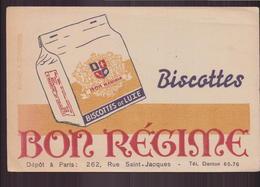 """Buvard """" Bon Régime  """"   Biscottes ( 21 X 13.5 Cm ) Pliures, Rousseurs - Biscottes"""