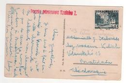 """Beau Timbre , Stamp  Yvert N° 383 """" Varsovie , Palais Du Belvédère """" Sur Cp , Carte , Postcard Du  ?? - 1919-1939 République"""