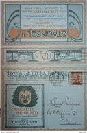 BLP, Lion, Big Cat, Electric Bulb, Motor Car, Automobile, Wine, Liquor, Cinema, Art, Advertising Lettersheet Used Italy - 4. 1944-45 Repubblica Sociale