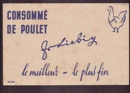 """Buvard """" Liebig """" Consommé De Poulet ( 21 X 13.5 Cm ) Pliures, Rousseurs - Suppen & Sossen"""