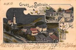 SELLRAIN AUSTRIA~BAD & GASTHAUS ROTHENBRUNN BESITZER DE ANDRA SCHULER~1903 MULTI PHOTO POSTCARD 42808 - Sellrein