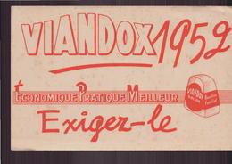 """Buvard """" Viandox 1952 """" ( 21 X 13.5 Cm ) Pliures, Rousseurs - Soups & Sauces"""