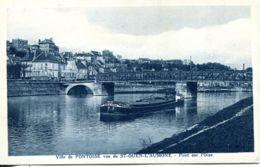 """N°4071 T -cpa Pontoise -vue De St Ouen L'Aumone -péniche """"la Poule D'eau"""" - Pontoise"""