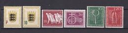 BRD - 1955 - Michel Nr. 212/213+215/218 - Postfrisch/Ungebr. - 36 Euro - BRD