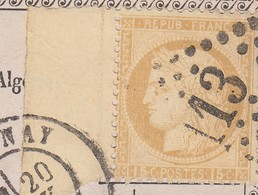 N° 59 AVECGRAND BORD DE FEUILLE. CARTE PRECURSEUR. 20 JANV 76. ANNONAY POURGRENOBLE - Postmark Collection (Covers)