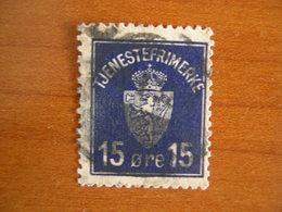 Norvège Obl N° S3 - Service
