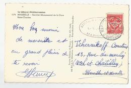 Marcophilie Guerre D'indochine 1952 Cachet Hopital Marseille Timbre Fm - Marcophilie (Lettres)