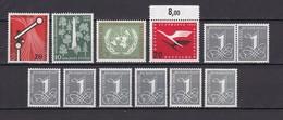 BRD - 1955/63 - Michel Nr. 208+219/21+226 - Postfrisch - 65 Euro - BRD