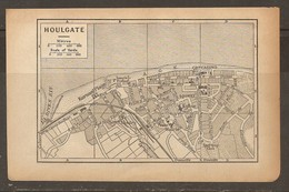 CARTE PLAN 1918 - HOULGATE - KURSAAL PLAGE GRAND CASINO SPORTING CLUB TEMPLE PROTESTANT - Topographische Kaarten
