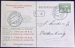 Netherlands 1929 Ned. Spoorw Kennisgeving Kaart Lebeau 3 C. Lokaal Bestel P.4 !! Valkenburg-2, 5 III.1929 - 2002.2505 - 1891-1948 (Wilhelmine)