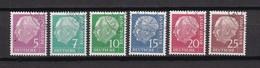 BRD - 1960 - Michel Nr. 179 Y / 186 Y - Gest. - 240 Euro - Oblitérés