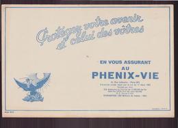 """Buvard """" Phenix-vie """" Protégez Votre Avenir   ( 21 X 13.5 Cm ) Pliures, Rousseurs - Banque & Assurance"""