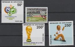 Côte D'Ivoire Ivory Coast 2006 Mi. 1483 - 1486 FIFA World Cup Coupe Du Monde WM Football Fußball Soccer Germany Set Of 4 - Costa D'Avorio (1960-...)