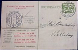 Netherlands 1929 Ned. Spoorw Kennisgeving Kaart Lebeau 3 C. Lokaal Valkenburg-2, 5 III.1929 - 2002.2506 - 1891-1948 (Wilhelmine)