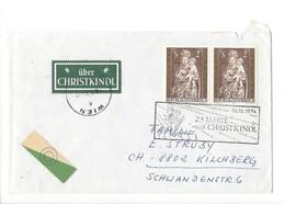 24173 - Christkindl 10.12.1974  Cover Lettre Pour Kilchberg + Vignettes - Noël