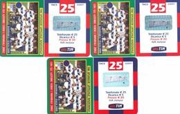 """LOTTO 44 DI N° 3 SCHEDE PREPAGATE & RICARICHE """"TIM CON GLI AZZURRI VERSO IL MONDIALE 2002"""" TUTTE DIVERSE - Italia"""
