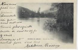 34 ( Herault ) - Environs De LAMALOU - Bord De L'Orb ( Timbre YT 103 Type Sage Noir Sur Lilas ) Cachet Postal BEDARIEUX - Lamalou Les Bains