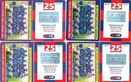 """LOTTO 45 DI N° 4 SCHEDE PREPAGATE & RICARICHE """"TIM CON GLI AZZURRI VERSO IL MONDIALE 2002"""" TUTTE DIVERSE - Italia"""