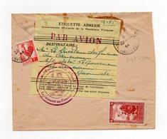 !!! PRIX FIXE : ALGERIE, ETIQ PAR AVION DU GVT PROVISOIRE DE LA REP FR A ALGER /LETTRE POUR LE GV DU CAMEROUN - Guerre De 1939-45