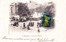 PLOËRMEL - Un Jour De Marché - Superbe Carte Animée Et Circulé 1904 - Ploërmel