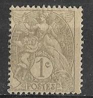 France - 1902 - Type Blanc (  Type IA ) 1c. Gris- Y&T N° 107** Neuf ( Sans Charnière ) - 1900-29 Blanc
