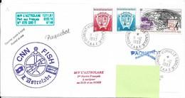 10 - TAAF PO171/174 - PA 125 Du 11.12.1993 Terre Adélie . Pli Du M/V L' ASTROLABE . Cachets Divers. - Terres Australes Et Antarctiques Françaises (TAAF)