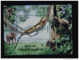 Vietnam Viet Nam MNH Perf Withdrawn Souvenir Sheet 2006 : Animals In Ben En National Park / Elephant (Ms952B) - Vietnam