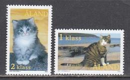 Aland 2003 - Cats, Mi-Nr. 217/18, MNH** - Ålandinseln