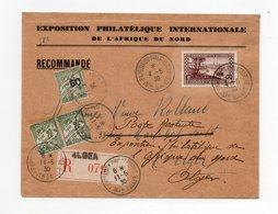 !!! ALGERIE, LETTRE DE L'EXPO PHILATELIQUE INT DE L'AFRIQUE DU NORD 4/5/1930, AVEC TAXES DE POSTE RESTANTE - Storia Postale
